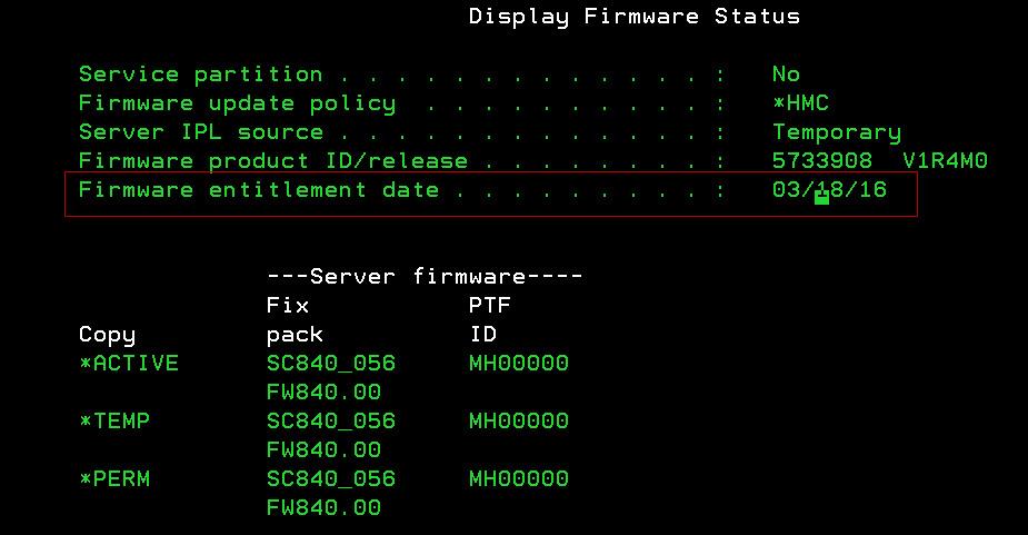 Power8 No Hardware Maintenance No Firmware Upgrade Ibmi
